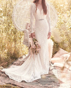 Mikaella Lace Wedding Dress - Long Sleeved