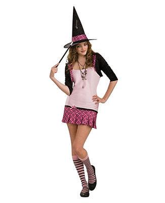 Zauberschule Hexe Halloween Kostüm Rosa Mädchen Junioren Tween Größe M 2-4 Nwt
