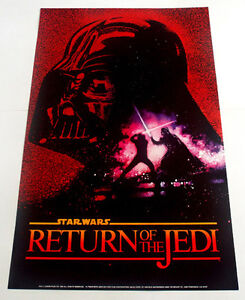STAR WARS RETURN OF THE JEDI 1983 POSTER RARE AND VINTAGE