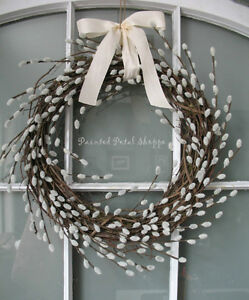 Spring Faux Willow Wreath/Rustic Spring Wedding Decor/ Wreath