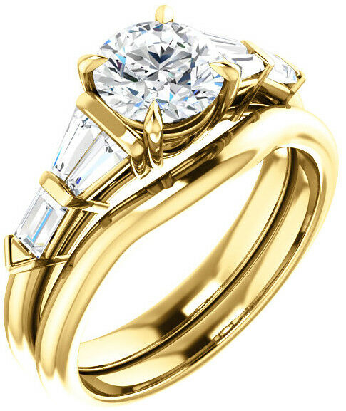 GIA 1.01 carat Round Diamond Engagement Solitaire 14k Yellow Gold Ring I S11