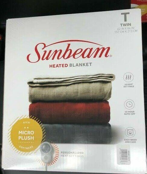 Sunbeam Heated Electric Microplush Blanket