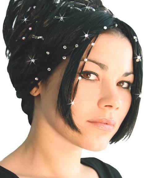 Haarpiercing Sets - Haarschmuck mit 4 Swarovski®-Kristallen