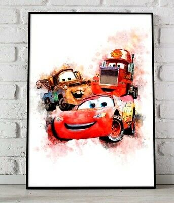 A4 A3 A2 A1 A0| Cars 3 Disney Kids Movie Poster Print T756