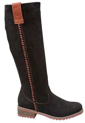 Top Moda Black Faux Suede Knee High Womens Zip Boots LE-16 (Retail $88)