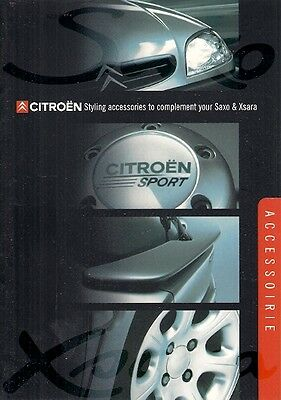 Citroen Saxo & Xsara Accessories 2001-02 UK Market Sales Brochure