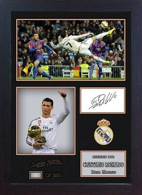 Cristiano Ronaldo Real Madrid signed autograph Football Memorabilia Framed #17