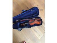 Violin for 8/9 years old with case