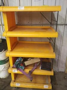 5 Shelf Storage Plastic Unit on rolling wheels 51 x 30 x 15