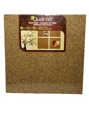 Cork Panels Self-stick 12x12 4 Pack Natural Easy Mount Tackable Soft Quartet