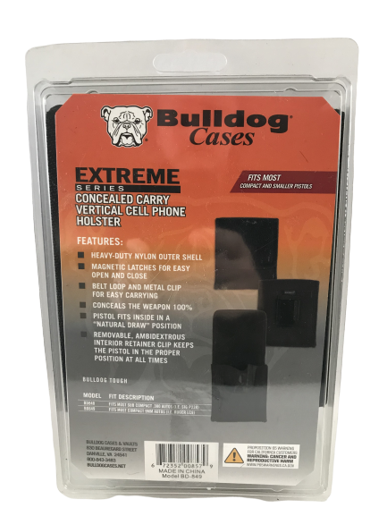 """Bulldog Cases """"Vertical"""" Cell Phone Holster with Belt Loop a"""