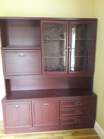 Set Of Cabinets For Lounge Or Dining Room Rosewood Glass