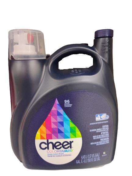 Cheer 2x Ultra Liquid Detergent He Fresh Clean Scent 96 Load