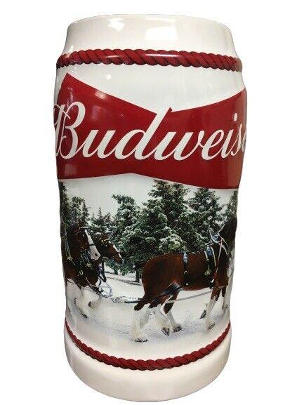 2016 Budweiser Holiday Stein Christmas Beer Mug