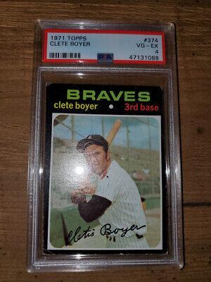 1971 Vintage Topps # 374 Clete Boyer Braves PSA 4 VG-EX 1/2 Off Shipping Incl