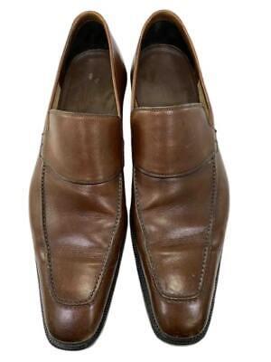 Mens Vintage 1980's Gucci Loafers Size 9.5 D Tan Cognac Brown Apron Moc Toe