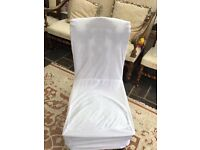 280 White Chair Covers ideal for wedding use.