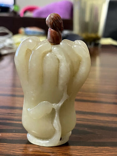 Chinese Jade Buddha Hand Snuff Bottle.