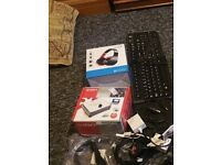 box of pc/laptop related items most are new