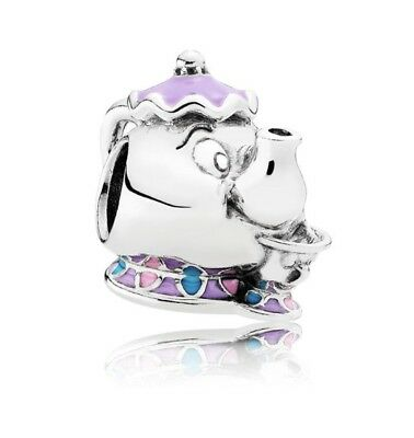 Genuine Pandora 792141ENMX Disney Mrs Potts Chip Beauty and The Beast Charm