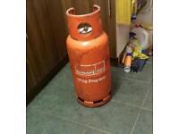Empty propane bottle
