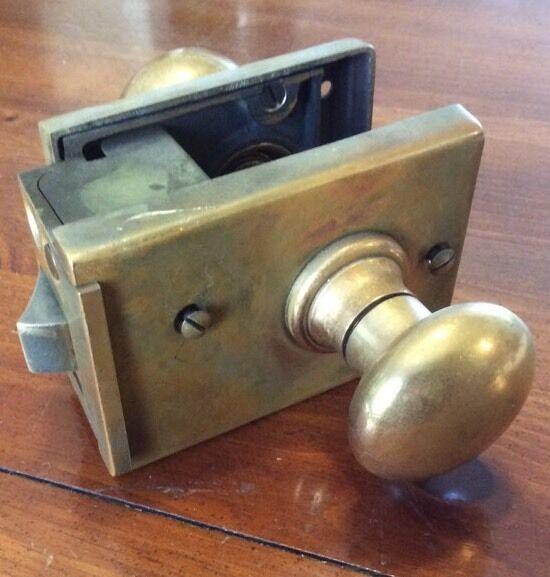 Russwin Brass Door Handle Lock