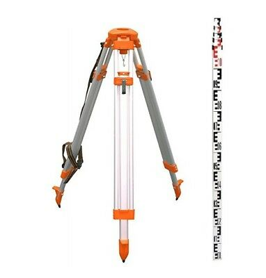 Cst Dome Head Tripod 4m Metric Leveling Rod Kit For Auto Levels And Lasers