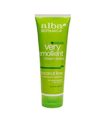 Alba Botanica Natural Very Emollient Cream Shave, Coconut Lime 8 (Coconut Lime Cream)
