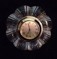 LENOX DESK CLOCK Made In Germany Unique Diamond Shape 12 Hour Battery Power