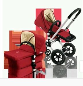 BUGABOO BABY STROLLER WITH BASSINET AND ACCESSORIES