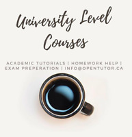 University Courses Tutoring Available