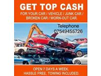 Wanted all scrap cars/ vans/ vehicles