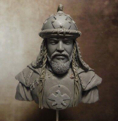 Zona72, Busto Resina, Bust Resin, Genghis Khan., Escala 1/12, BU-19