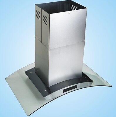 "New Europe Style 42"" Stainless Steel Glass Island Mount Range Hood"