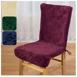 High Back Chair Covers Cream