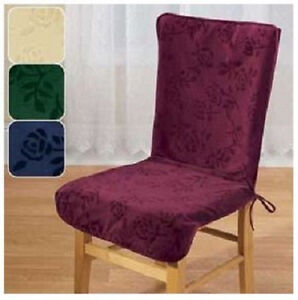 High Back Chair Covers Cream