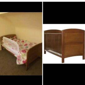 Cot/cot bed, mattress and bed guard