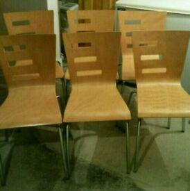 Chairs x6