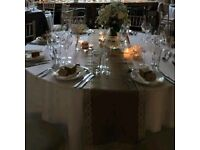 Hessian and Lace Table Runners + Spare roll Hessian 20+meters