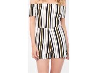 Striped Playsuit: Size 8.