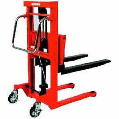 New Hydraulic Stacker Step Type-881 Lb. Capacity-59 Lift