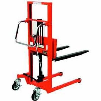 New Hydraulic Stacker Step Type-440 Lb. Capacity-35.4 Lift