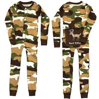 Lazy One Buck Naked Deer Camo Toddler Boys & Girls Flapjacks Pajamas Long Johns