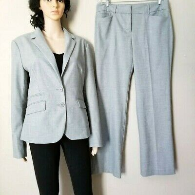 New York & Company Stretch 2 PC Women's Suit Pant And Blazer Size 14
