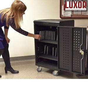 NEW* LUXOR 30 TABLET CHARGING CART - 128357228 - TABLET CHROMEBOOK COMPUTER CHARGING CARTS MOBILE PORTABLE STATION ST...