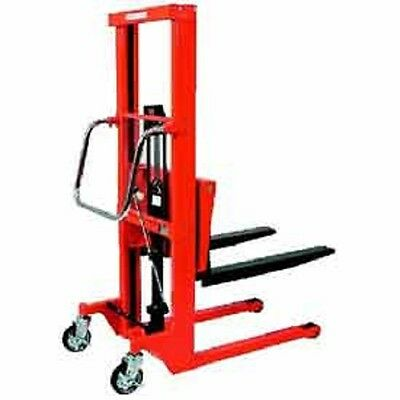 New Hydraulic Stacker Step Type-1322 Lb. Capacity-7.2 Lift