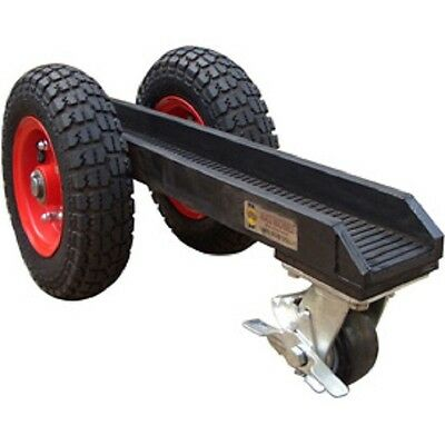 New 3 Wheel Slab Dolly 3wd Pneumatic Rubber Tires 880 Lb. 3-18 Channel