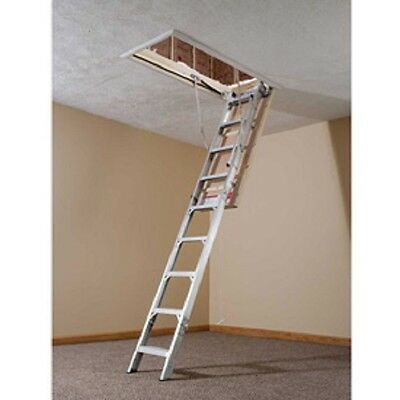 New Werner Aluminum Energy Seal Attic Ladder 22-12w X 8-10