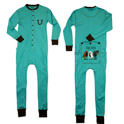 Lazy One Tail End Adult Blue Mens & Womens Flapjack Flapjacks Pajamas Long Johns X-Small