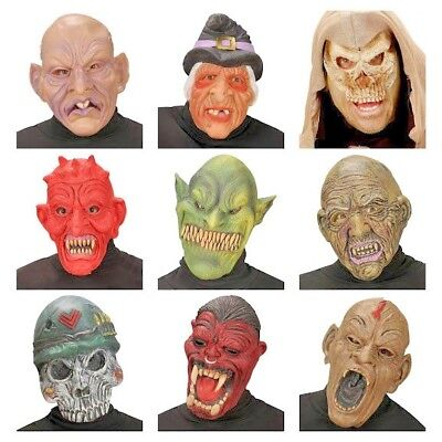 Maske Halloween Latexmaske Karneval Fasnacht Fasching Teufel Goblin Hexe Zombie